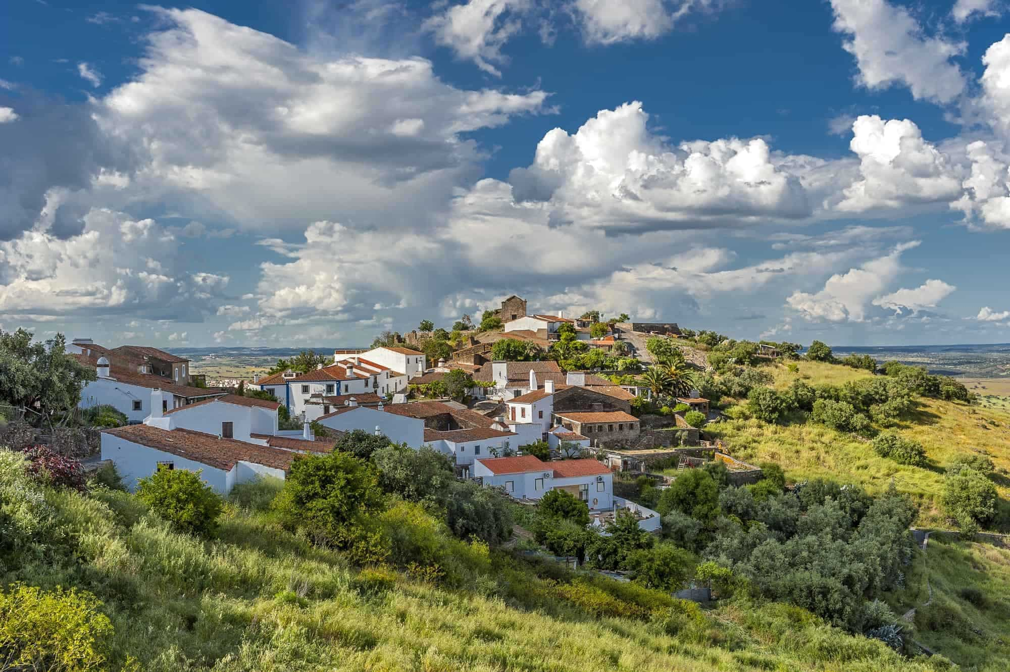 Portugal , the District of Evora . The green village of Monsaraz